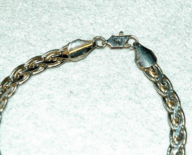 14k White Gold Bracelet  8