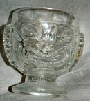 Hawaiian Tiki two faced Tropical  Drink Glass Imperial Glass co.