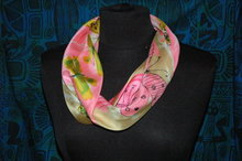 Vera Butterfly Smoke Ring Scarf 100% silk