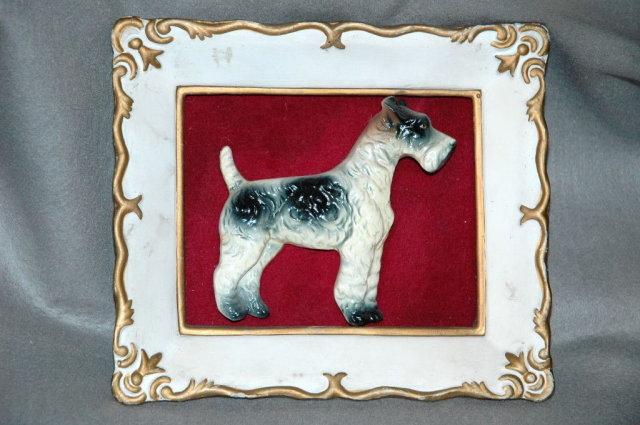 Fox Terrier  Papier-Mache Wall Art Paque