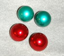 2 pair of plastic  dome clip on earrings