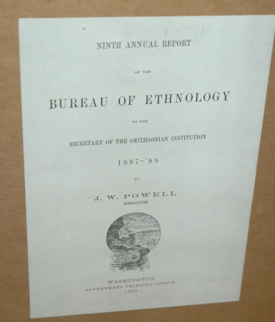 Bureau of Ethology Apache Medicine Hat Plate