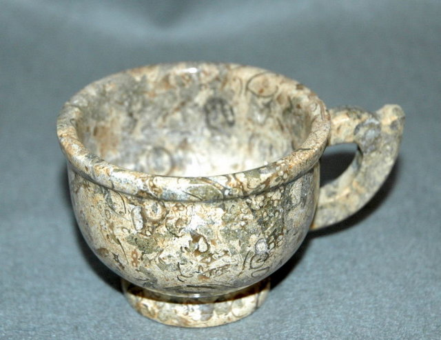 Real Fossil Stone Cup and Saucer  * Price Reduction*