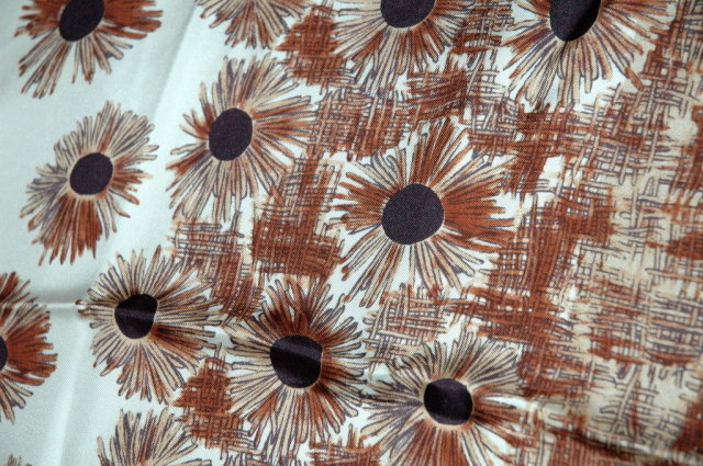 100 %  Silk Scarf  Made in Italy  handrolled hem 36