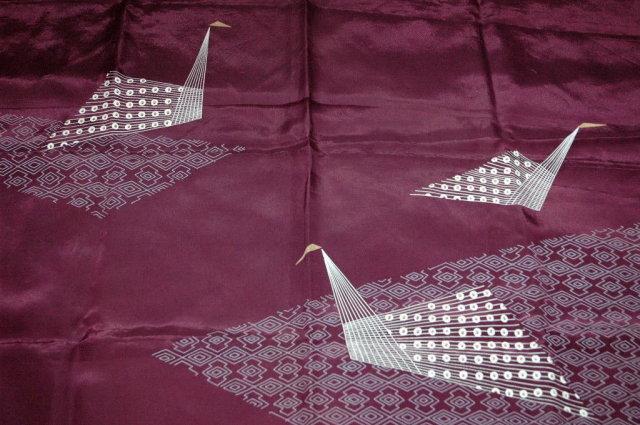 Origami Design  100 % Silk Scarf