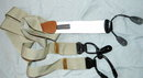 Trafalgar  Suspenders, Braces Silk GrainTan, Beige or Kahki & Leather