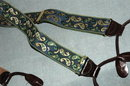 CAS Germany  Stretchy  Suspenders, Braces Paisley Silk Embroidery