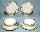 DesertRose Franciscan Earthenware Cups Saucers