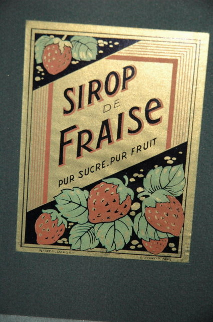 Matted French Stawberry Syrup Label