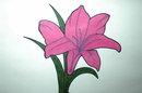 Minimalist Original Painting Single Magenta Lily in Vase Framed Original  Painting Yasmin  * PRICE REDUCTION!*