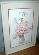 Watercolor painting, floral  signed Brugge