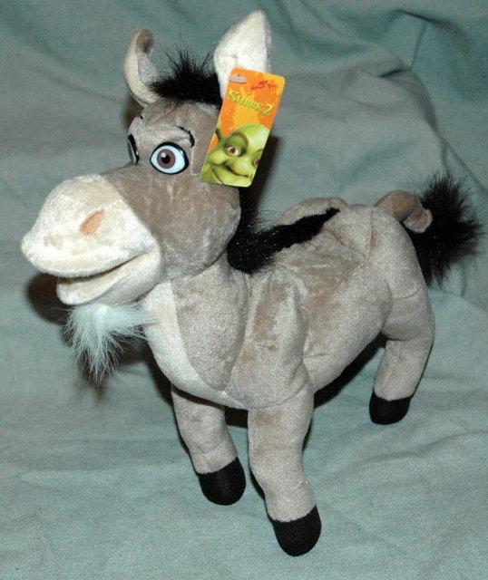 Plush Donkey From Shrek 2  NWT 12