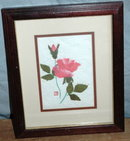 Torn Paper Rose Picture Framed Behind Glass * PRICE REDUCTION!*