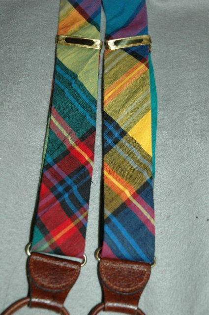 Ferrell Reed Plaid Tartan Suspenders Braces