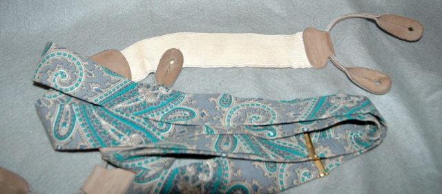 Trafalgar Paisley Silk Suspenders Braces