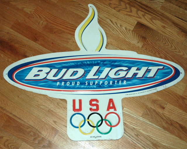 Bud Light  2001 Olympics Metal Sign