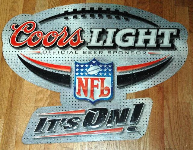 Coors Light Offical Beer Sponsor NFL