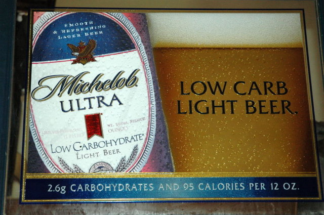 Michelob Ultra Light Low Carb Beer Bar Mirror Awesome Design