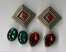 3 pair of costume clip on earrings