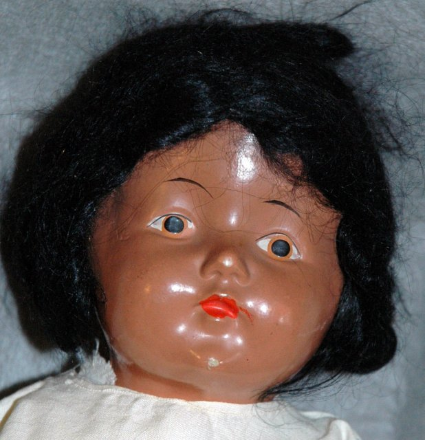 Antique Black Composition Doll