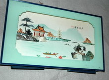 Framed Chinese Diorama Picture Display