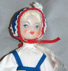 Vintage  Dancing Scandinavian Girl Doll   * PRICE REDUCED *
