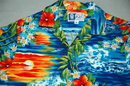 Hawaiian RJC  Shirt  Sunset, Palms & Hibiscus M