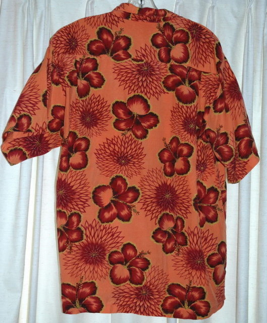 Orange & Hibiscus Hawaiian Shirt, Tommy Bahama ** PRICE REDUCED! **