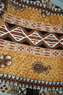 Fiji Shirt Tapa cloth Design Barkcloth Fabric