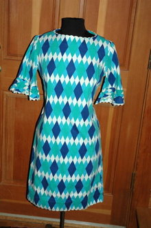 The Ugliest  Vintage Reto  Mod Hawaiian Made Dress I have ever seen!