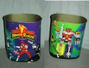 Mighty Morhin Power Rangers Metal Waste Paper Basket