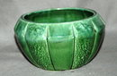 Nice Green USA Pottery  Melon shaped bowl