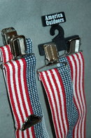 Patriotic Stars Stripes Red White & Blue Suspenders Braces