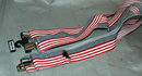 Patriotic Stars Stripes Red White & Blue Suspenders Braces