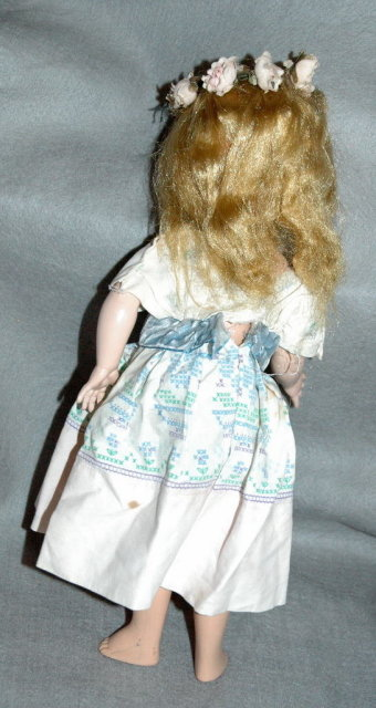 Beautiful Vint. Doll  Hard Plastic  Jointed & Strung