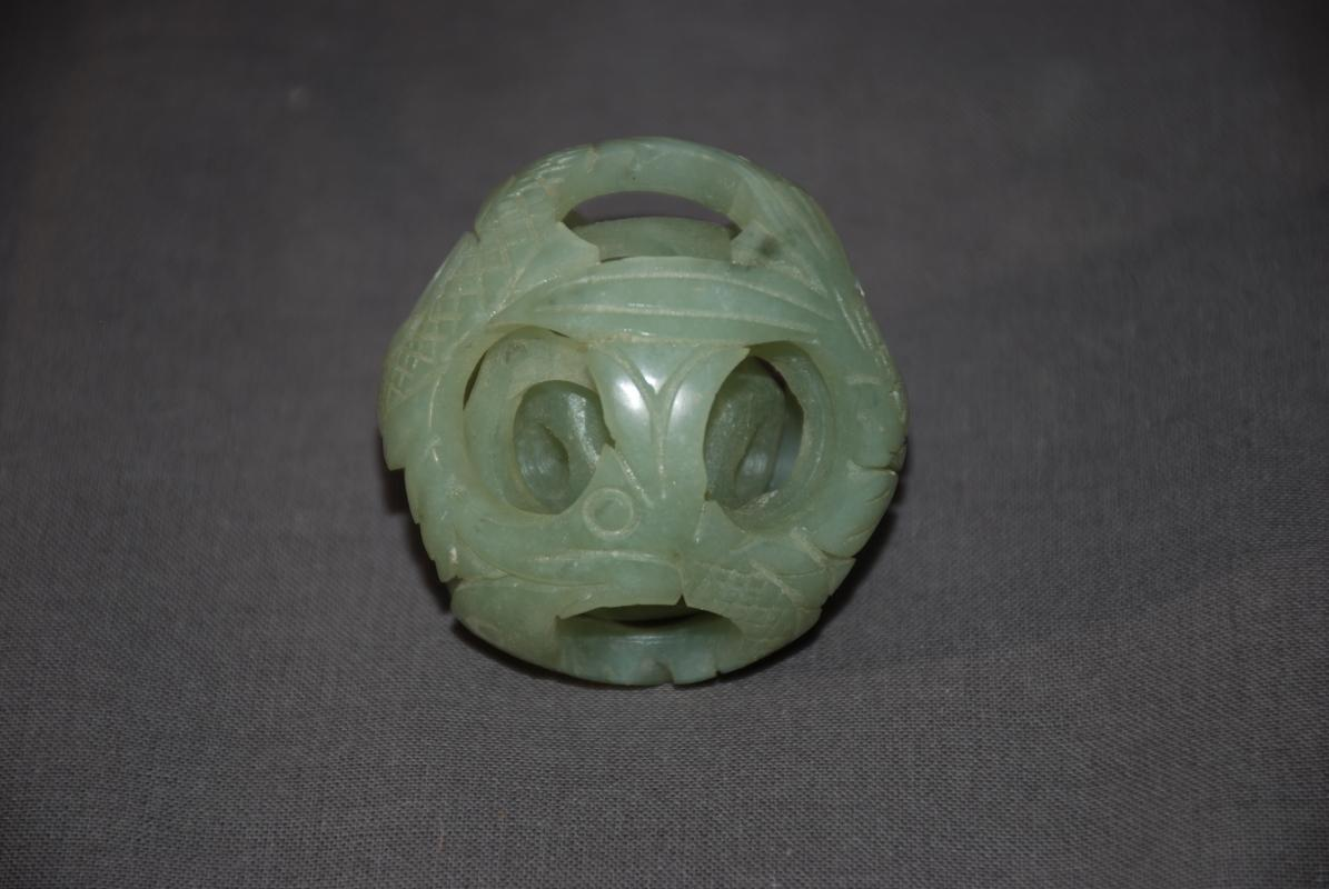 Chinese  Dragon Jade Puzzle Ball  5 Layer 2