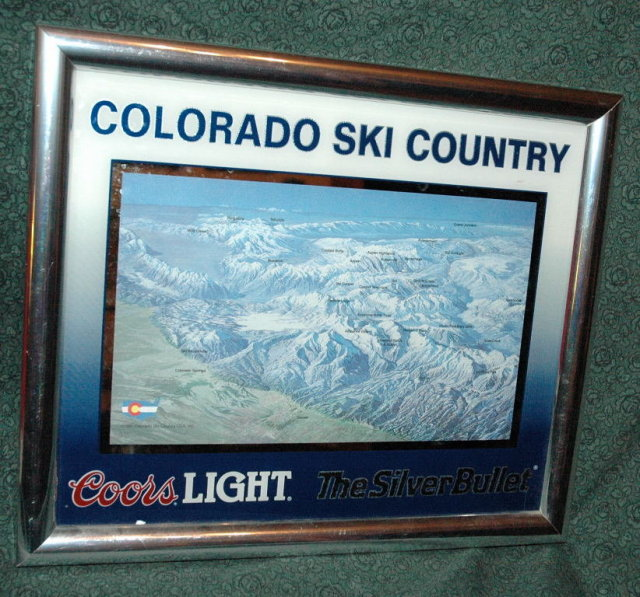 Coors Light Colorado Ski Country Sign
