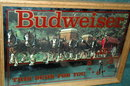BUDWEISER BEER BAR CLYDESDALE MIRROR CLOCK