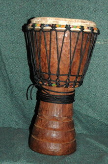 Handcrafted Carved  African  Djembe Drum  * PRICE REDUCED !**