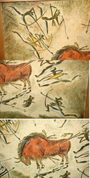 Original Oil Pastel Cave Painting -African? Art