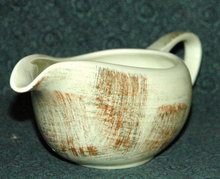 Vintage Vernonware Raffia, hand painted gravy boat or pitcher