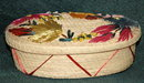 Vintage  Grass Basket with Decorated Lid