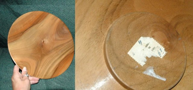 Scandinavian  Modern Figural Wood Turned Bowl