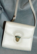Dooney & Bourke Cream Leather Shoulder Bag