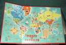 1960 Pirate and Traveler Game Melton Bradley #4563 A World Georgraphy Game
