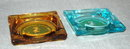 2 Vintage Glass TraveLodge Ashtrays -***PRICE REDUCTION!***