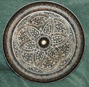Intricately  Carved Wood Medallion Wall Plaque