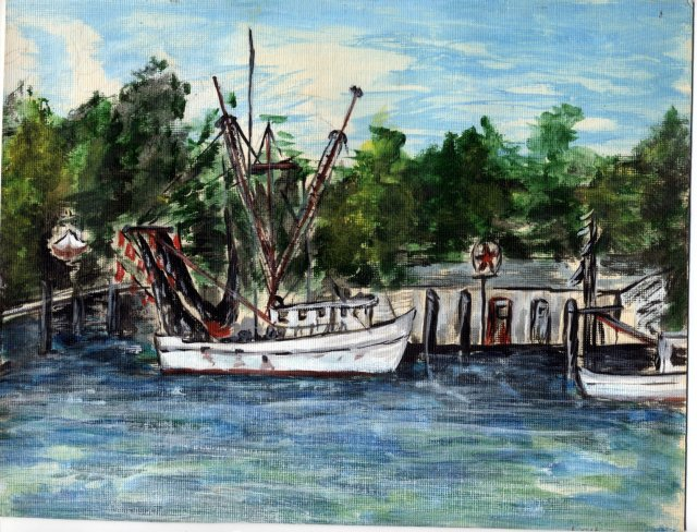 Fishing Boat West Beach Marina Painting NW ART