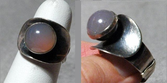 Mod Danish Sterling  Ring  Ring Brdr. Bjerring