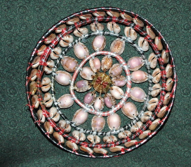 Funky & Unusual Hand Made Basket of Cowry Shells  PRICE REDUCTION!**
